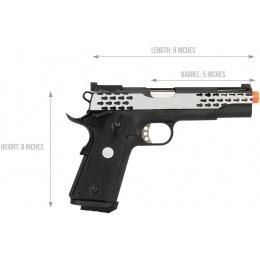 Army Armament Full Metal R30 1911 Gas Blowback Airsoft Pistol - BLACK / SILVER