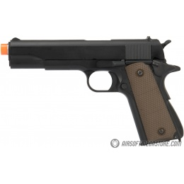Army Armament Full Metal R31 1911 Gas Blowback Airsoft Pistol w/ Silver Barrel - BLACK