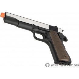 Army Armament Full Metal R31 1911 Gas Blowback Airsoft Pistol w/ Imitation Wood Grips - BLACK / SILVER