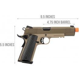 Army Armament Full Metal R28 1911 Gas Blowback Airsoft Pistol - TAN