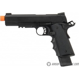 Army Armament Full Metal R32 Gas Blowback Airsoft Pistol - BLACK