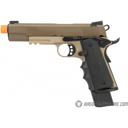 Army Armament Full Metal R32 Gas Blowback Airsoft Pistol - TAN