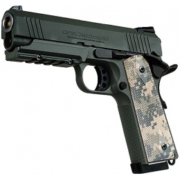 Tokyo Marui 4.3 Foliage Warrior 1911 Gas Blowback Airsoft Pistol - FOILAGE GREEN