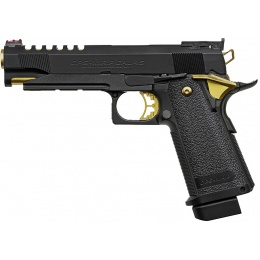 Tokyo Marui Hi-Capa 5.1 Gold Match Custom Gas Blowback Airsoft Pistol - BLACK/GOLD