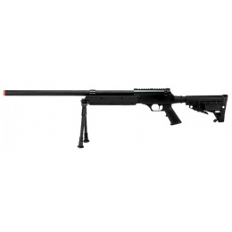 Echo1 ASR Bolt Action Airsoft Sniper Rifle w/ Quick Release Bipod - BLACK