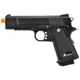 WE Tech Full Metal Hi-Capa 4.3 Compact Gas Blowback Airsoft Pistol - BLACK