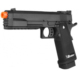 WE Tech Full Metal Hi Capa 5.2 R Version GBB Airsoft Pistol - BLACK