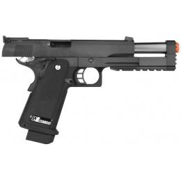 WE Tech Full Metal Hi Capa 5.2 R Version GBB Airsoft Pistol - BLACK