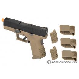 WE Tech X-Tactical 3.8 Compact Gas Blowback Airsoft Pistol w/ 2 Mags - TAN