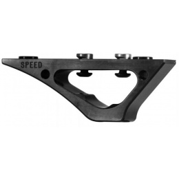 Speed Airsoft Curve Foregrip for KeyMod Rails - BLACK