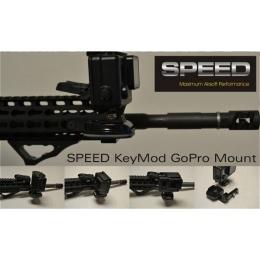 Speed Airsoft KeyMod Rail Mount Kit for GoPro - BLACK
