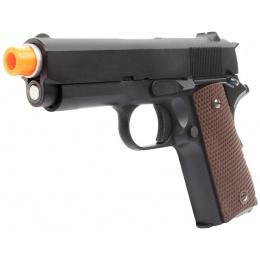 WE Tech Mini 1911 Version A Full Metal Gas Blowback Pistol - BLACK