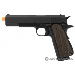 WE Tech 1911 High Capacity Full Metal Airsoft Gas Blowback Pistol - BLACK
