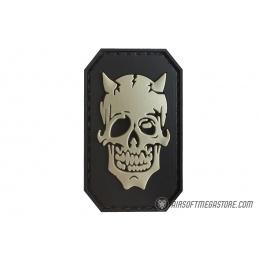 G-Force Zombie Devil PVC Morale Patch - BLACK