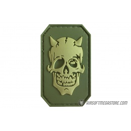 G-Force Zombie Devil PVC Morale Patch - OLIVE GREEN