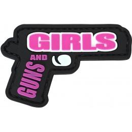 G-Force Guns and Girls PVC Morale Patch - BLACK / PINK