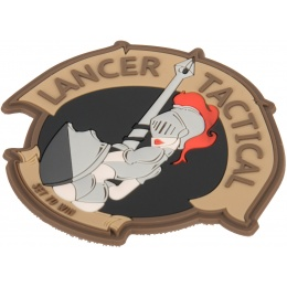 Lancer Tactical Knight Pin Up PVC Morale Patch - TAN