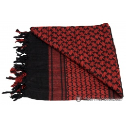 Lancer Tactical Multi-Purpose Shemagh Face Head Wrap - BLACK / RED