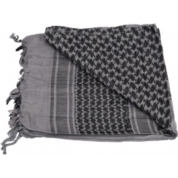 Lancer Tactical Multi-Purpose Shemagh Face Head Wrap - GRAY / BLACK