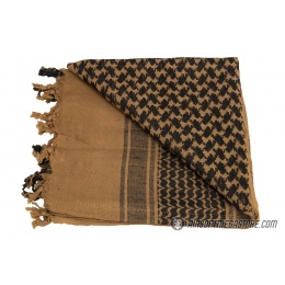Lancer Tactical Multi-Purpose Shemagh Face Head Wrap - MOCHA / BLACK