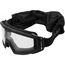 Lancer Tactical Rage Protective Black Airsoft Goggles - CLEAR LENS