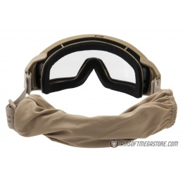 Lancer Tactical Rage Protective Tan Airsoft Goggles - SMOKE/YELLOW/CLEAR LENS