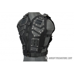 AMA Tactical Airsoft Vest Body Armory w/ Padded Chest Protector - BLACK