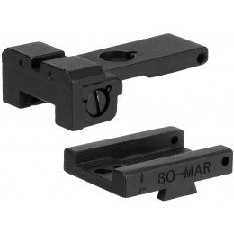 Army Armament Rear Iron Sight for M1911 Airsoft Pistols  - BLACK