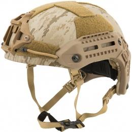 Lancer Tactical MT Type Tactical Airsoft Helmet w/ Accessory Rail - DESERT DIGITAL