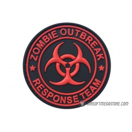 G-Force Zombie Outbreak Response Team PVC Morale Patch - BLACK