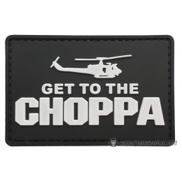 G-Force Get to the Choppa PVC Morale Patch - BLACK