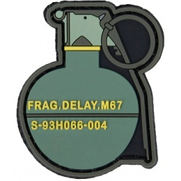 G-Force M67 Grenade PVC Morale Patch - GREEN