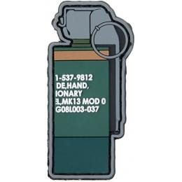 G-Force MK13 Flash Bang PVC Morale Patch - GREEN