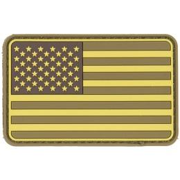 G-Force American Flag PVC Morale Patch - TAN