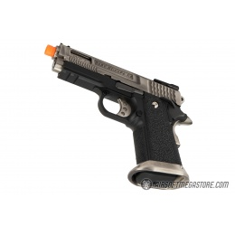 WE Tech 3.8 Hi-Capa Velociraptor Gas Blowback Airsoft Pistol - SILVER