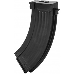 E&L Airsoft AK47 120 Round Mid-Cap Metal Magazine - Pack of 5 - BLACK