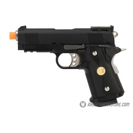 WE Tech 1911 3.8 Baby Hi-Capa Gas Blowback Airsoft Pistol [Version B] - BLACK