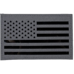G-Force American Flag Embroidered Morale Patch - WOLF GRAY