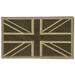 G-Force UK Flag Embroidered Morale Patch - TAN