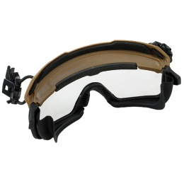 G-Force Quick-Detach Airsoft Goggles for BUMP Type Helmets - Coyote Brown