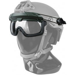 G-Force Quick-Detach Airsoft Goggles for BUMP Type Helmets - OD GREEN