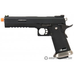 WE Tech 1911 Hi-Capa T-Rex Competition Gas Blowback Airsoft Pistol w/ Sight Mount - BLACK / SILVER