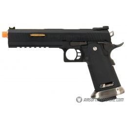 WE Tech 1911 Hi-Capa T-Rex Competition Gas Blowback Airsoft Pistol w/ Sight Mount & Top Ports - BLACK / GOLD