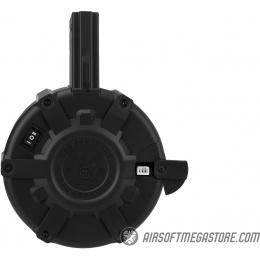G&G 2300 Round Auto Winding M4/M16 Drum Magazine - BLACK