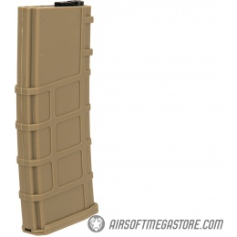 Lonex 30rd Low Capacity M4 AEG Polymer Airsoft Magazine [Pack of 6] - TAN