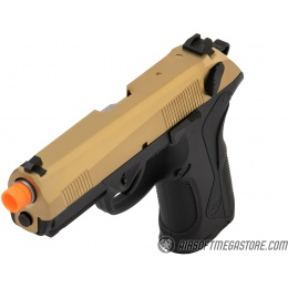 WE Tech Bulldog Full Size Full Metal Gas Blowback Airsoft Pistol - TITANIUM GOLD
