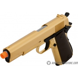 WE Tech 1911 A1 Gold Plated Airsoft Gas Blowback Pistol - GOLD
