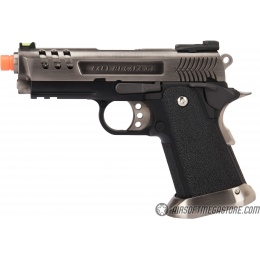 WE Tech 3.8 Hi-Capa Deinonychus Gas Blowback Airsoft Pistol - SILVER