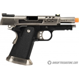 WE Tech 3.8 Hi-Capa Deinonychus Gas Blowback Airsoft Pistol - SILVER