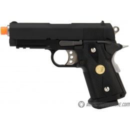 WE Tech 1911 3.8 Baby Hi-Capa Gas Blowback Airsoft Pistol [Version A] - BLACK